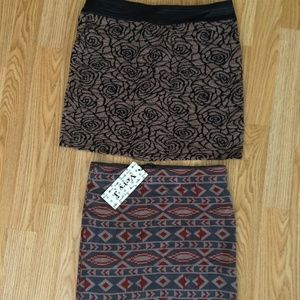 Mini Skirt Bundle Size Small Tribal and Floral